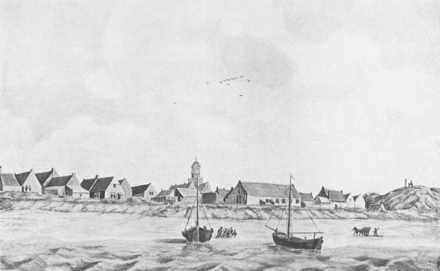 Noordwijk aan Zee in 1823 tekening C. Stegerhoek