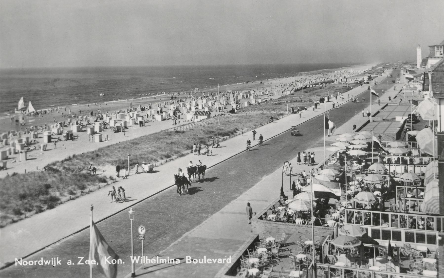 Noordwijk aan Zee 1951 ansichtkaart